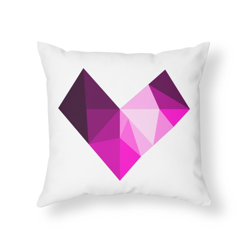 My pink heart Home Throw Pillow by ZuniReds's Artist Shop