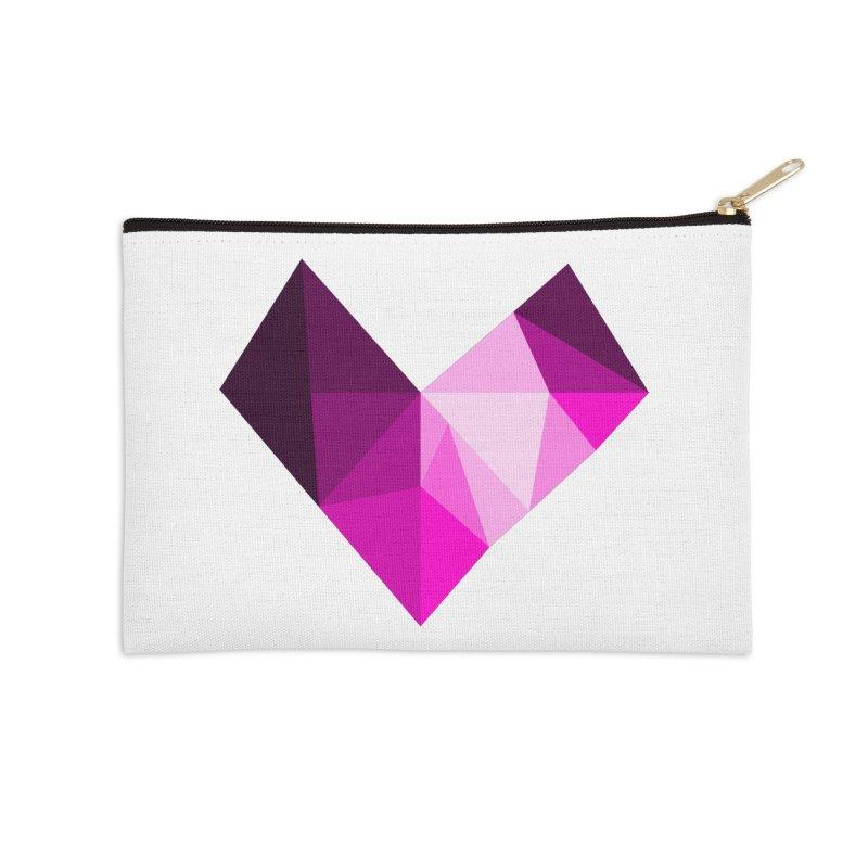 My pink heart Accessories Zip Pouch by ZuniReds's Artist Shop