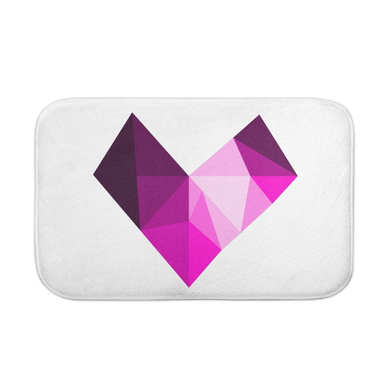 My pink heart Home Bath Mat by ZuniReds's Artist Shop