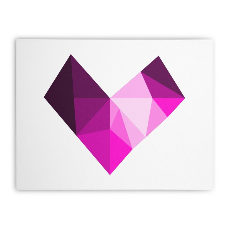My pink heart Home Stretched Canvas by ZuniReds's Artist Shop