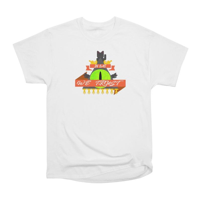IN CAT WE TRUST Women's Heavyweight Unisex T-Shirt by ZuniReds's Artist Shop