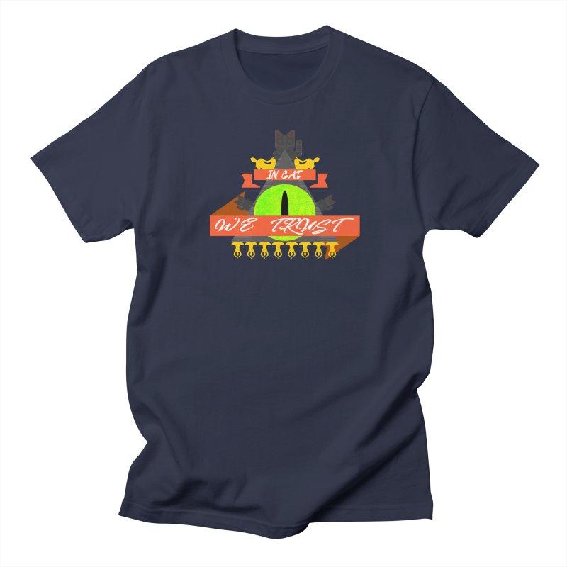 IN CAT WE TRUST Women's Regular Unisex T-Shirt by ZuniReds's Artist Shop