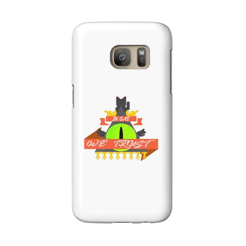 IN CAT WE TRUST Accessories Phone Case by ZuniReds's Artist Shop