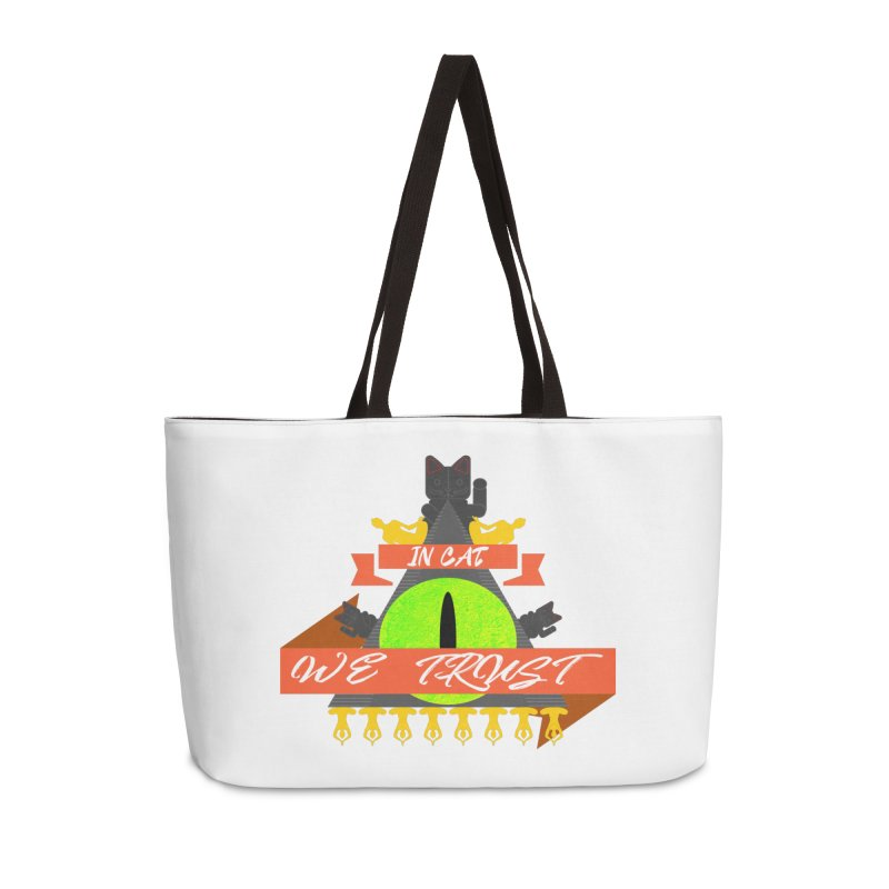 IN CAT WE TRUST Accessories Weekender Bag Bag by ZuniReds's Artist Shop