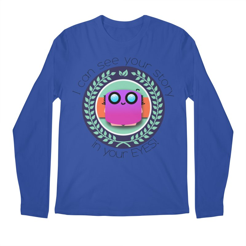 Your story in your eyes Men's Regular Longsleeve T-Shirt by ZuniReds's Artist Shop