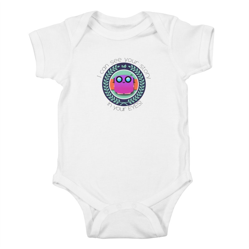 Your story in your eyes Kids Baby Bodysuit by ZuniReds's Artist Shop
