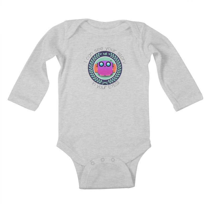 Your story in your eyes Kids Baby Longsleeve Bodysuit by ZuniReds's Artist Shop