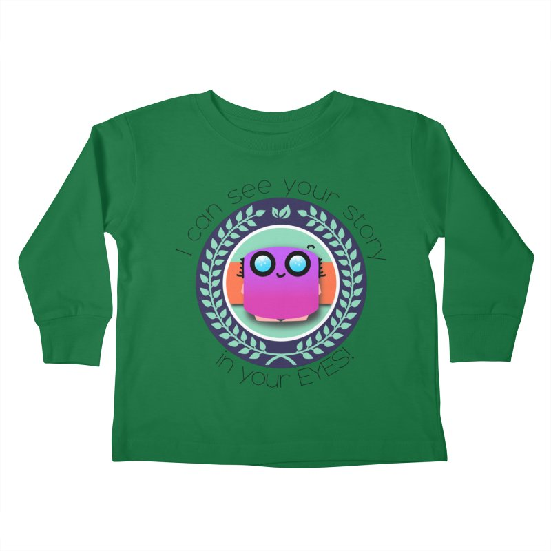 Your story in your eyes Kids Toddler Longsleeve T-Shirt by ZuniReds's Artist Shop