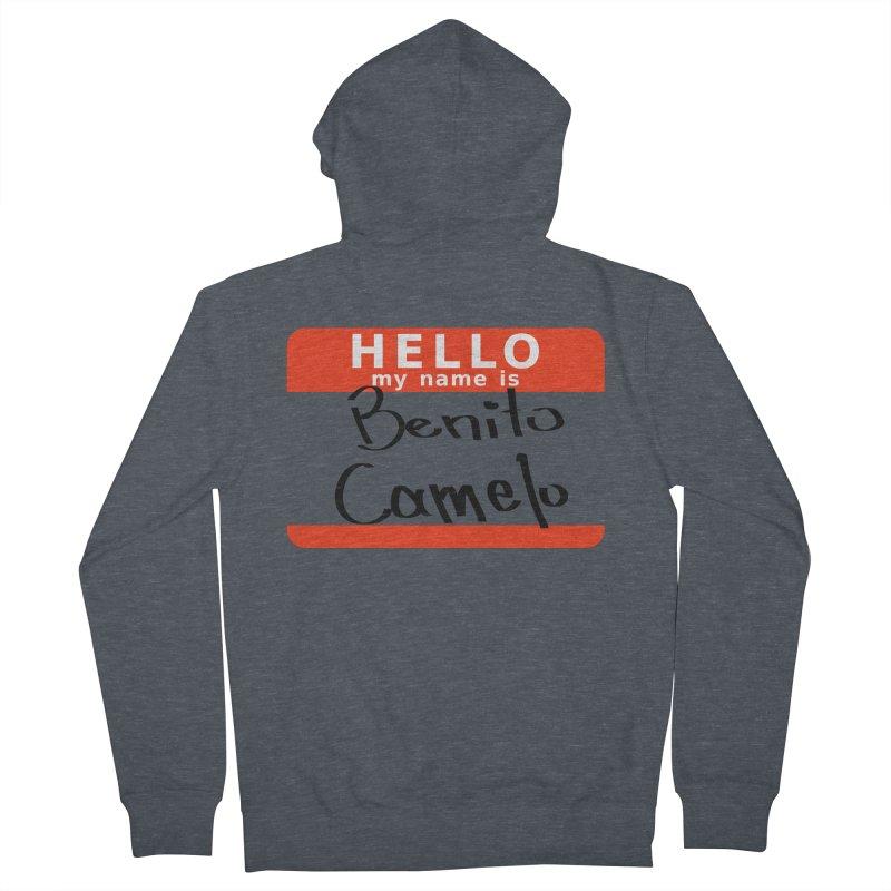 Hello Benito Men's Zip-Up Hoody by ZuniReds's Artist Shop