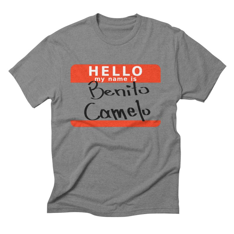 Hello Benito Men's Triblend T-Shirt by ZuniReds's Artist Shop