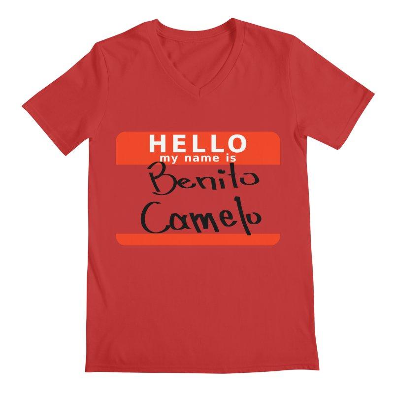 Hello Benito Men's Regular V-Neck by ZuniReds's Artist Shop