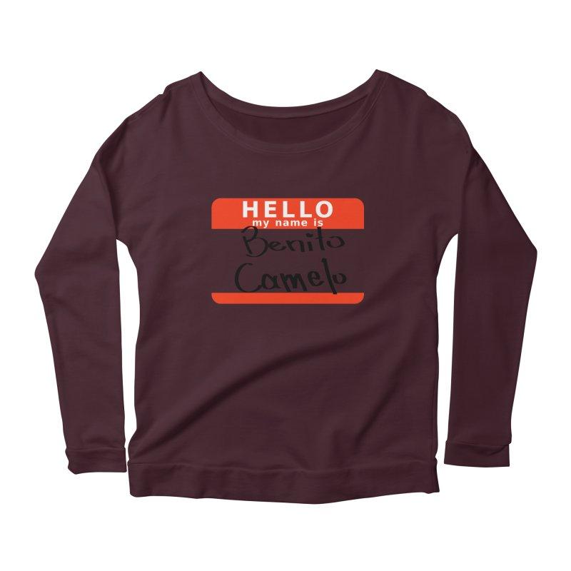 Hello Benito Women's Scoop Neck Longsleeve T-Shirt by ZuniReds's Artist Shop