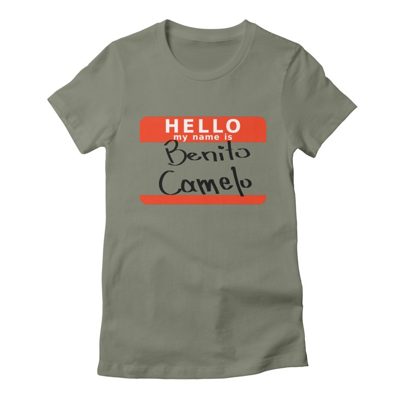 Hello Benito Women's Fitted T-Shirt by ZuniReds's Artist Shop