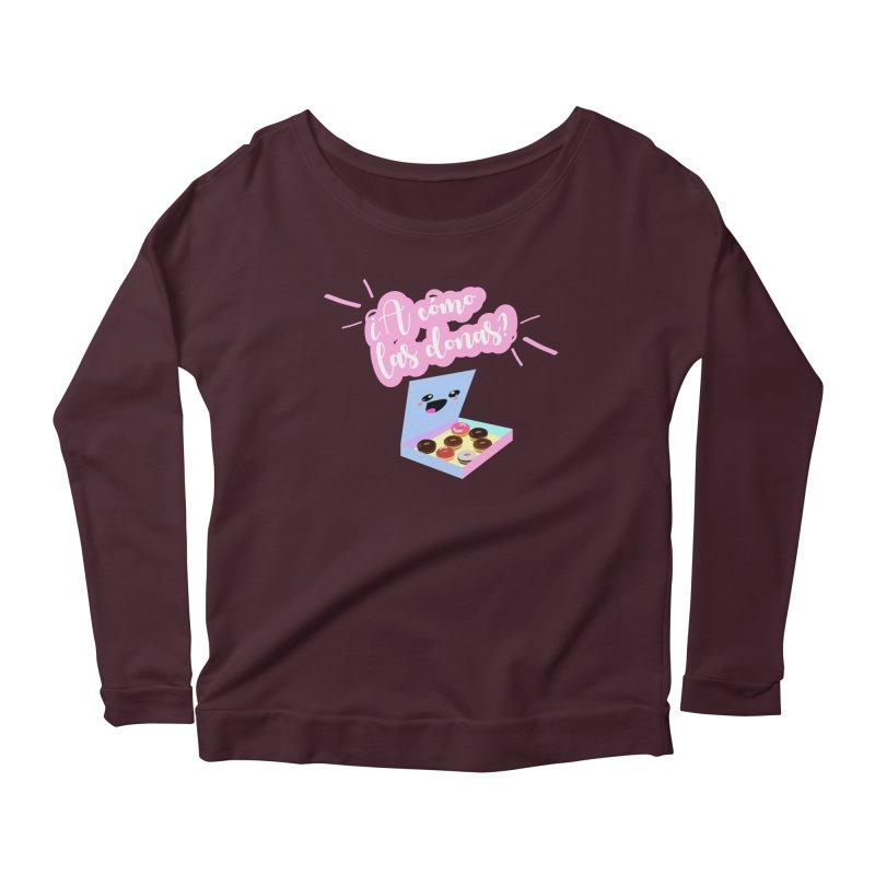 Donas Women's Scoop Neck Longsleeve T-Shirt by ZuniReds's Artist Shop