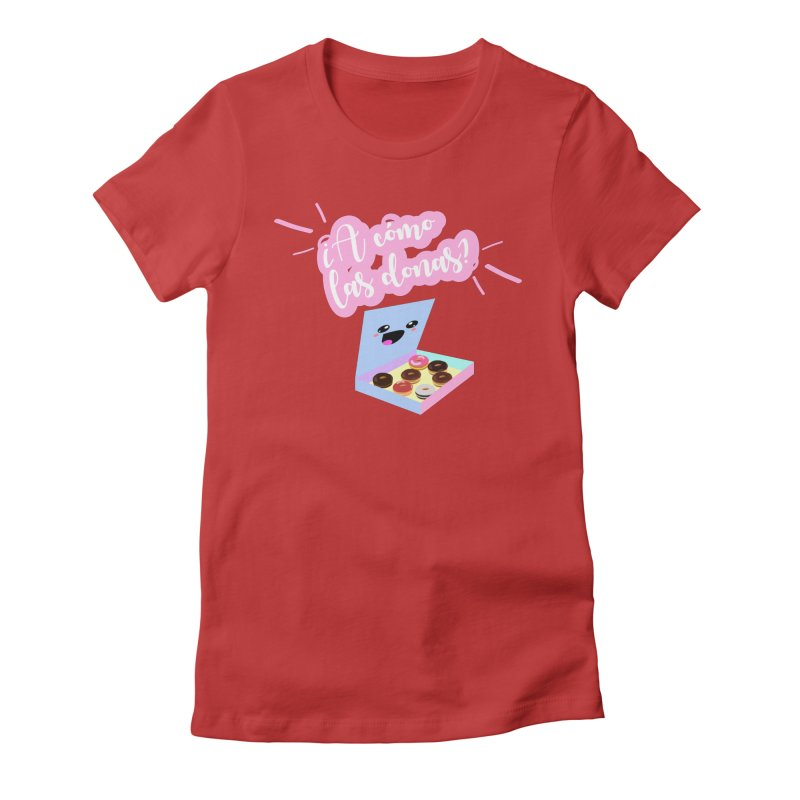Donas Women's Fitted T-Shirt by ZuniReds's Artist Shop