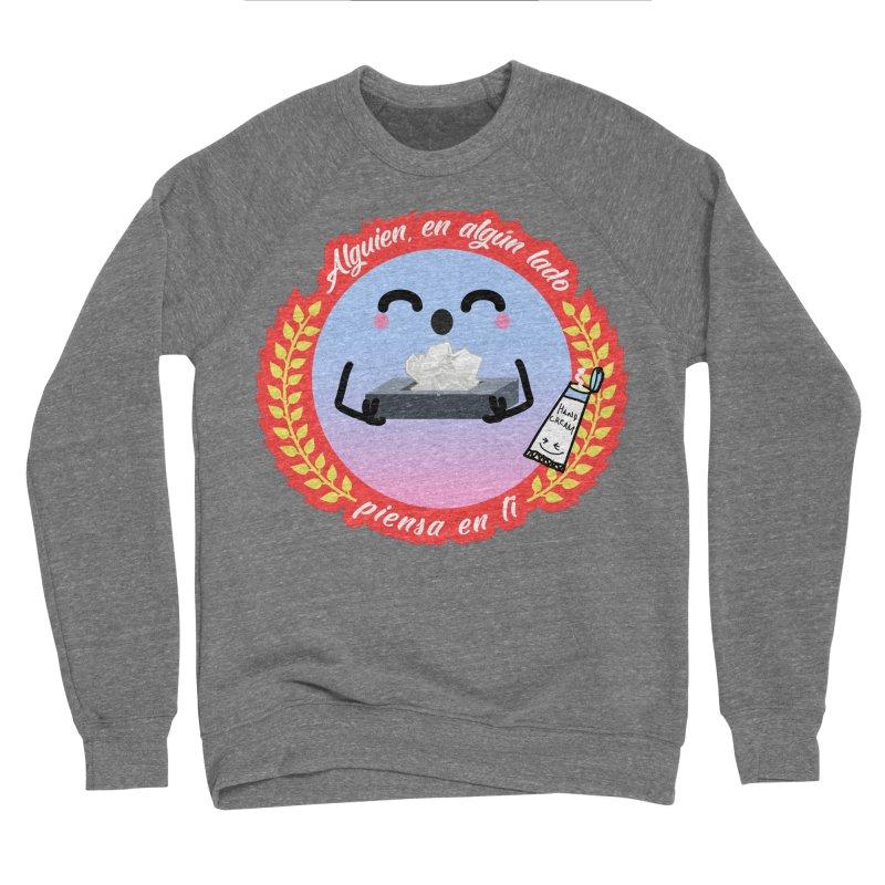 Alguien piensa en ti Men's Sponge Fleece Sweatshirt by ZuniReds's Artist Shop