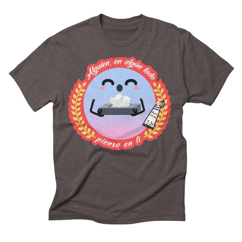 Alguien piensa en ti Men's Triblend T-Shirt by ZuniReds's Artist Shop