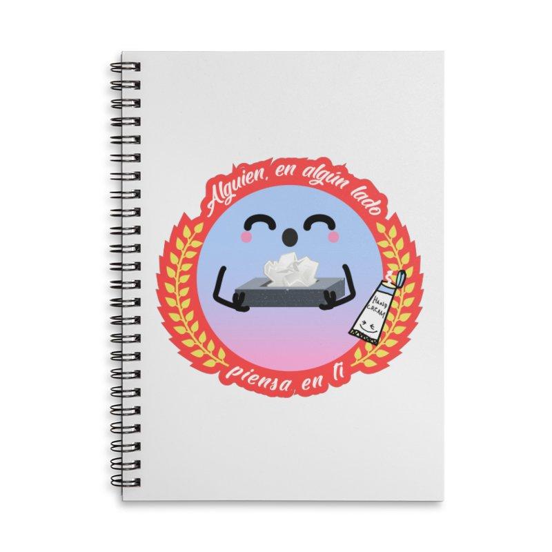 Alguien piensa en ti Accessories Lined Spiral Notebook by ZuniReds's Artist Shop