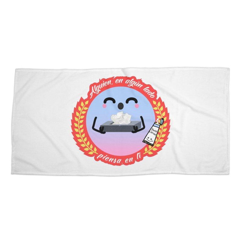 Alguien piensa en ti Accessories Beach Towel by ZuniReds's Artist Shop