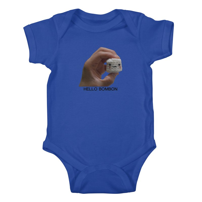 HELLO BOMBON Kids Baby Bodysuit by ZuniReds's Artist Shop