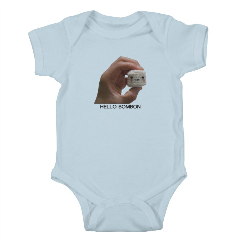 HELLO BOMBON Kids Baby Bodysuit by ZuniReds's Artist Shop