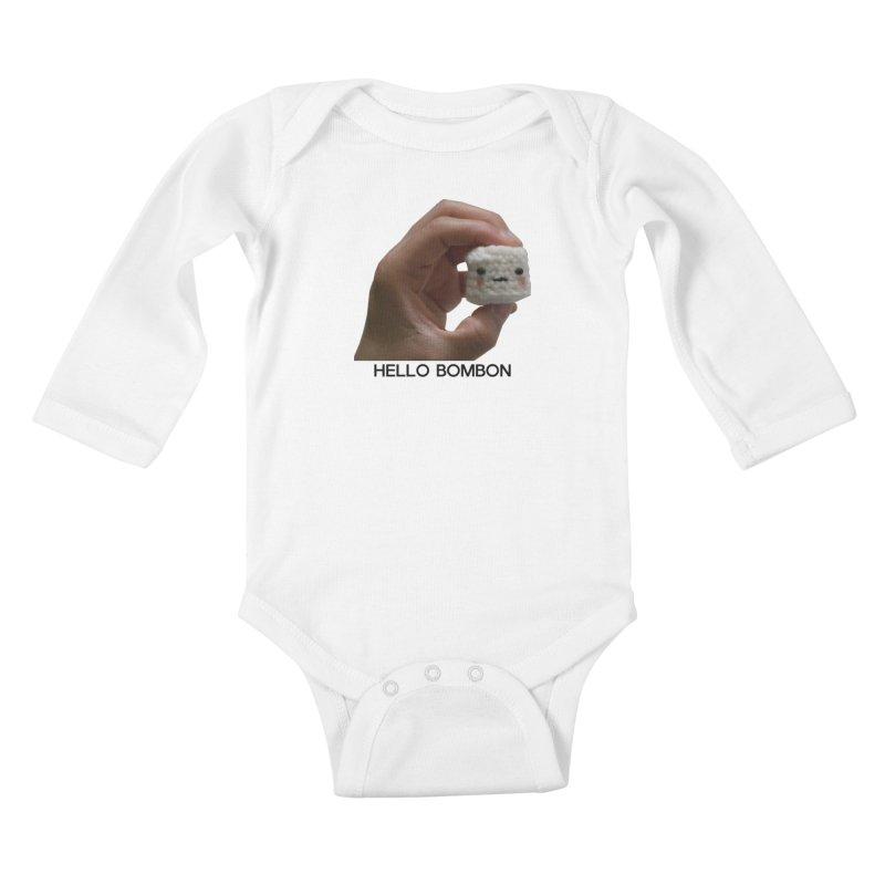 HELLO BOMBON Kids Baby Longsleeve Bodysuit by ZuniReds's Artist Shop