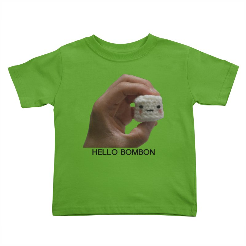 HELLO BOMBON Kids Toddler T-Shirt by ZuniReds's Artist Shop
