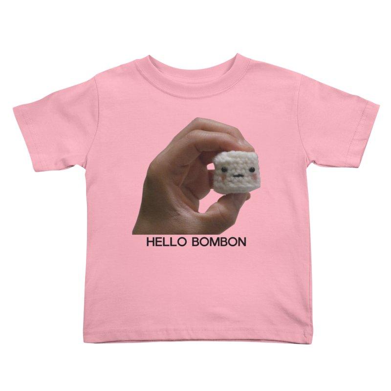 HELLO BOMBON Kids Toddler T-Shirt by ZuniReds's Artist Shop