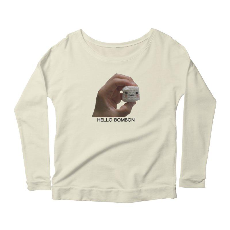 HELLO BOMBON Women's Scoop Neck Longsleeve T-Shirt by ZuniReds's Artist Shop
