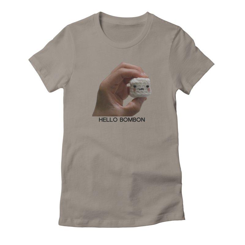 HELLO BOMBON Women's Fitted T-Shirt by ZuniReds's Artist Shop