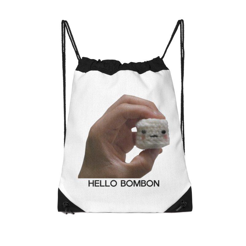 HELLO BOMBON Accessories Drawstring Bag Bag by ZuniReds's Artist Shop