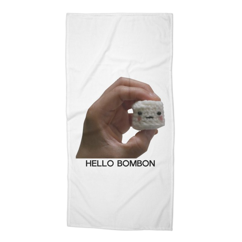 HELLO BOMBON Accessories Beach Towel by ZuniReds's Artist Shop