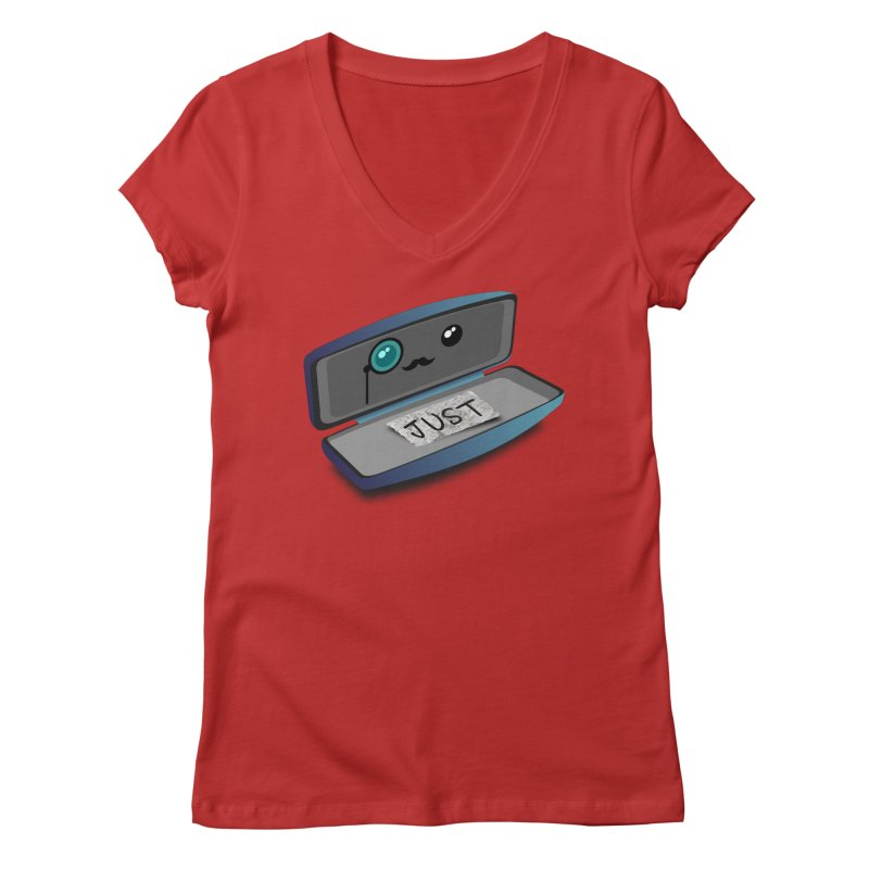Just in case Women's V-Neck by ZuniReds's Artist Shop