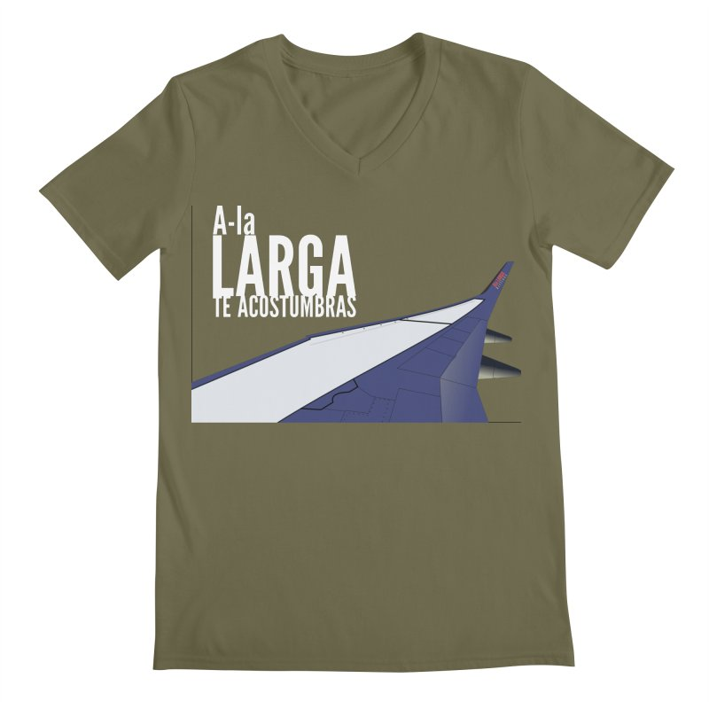Ala Larga te acostumbras Men's Regular V-Neck by ZuniReds's Artist Shop
