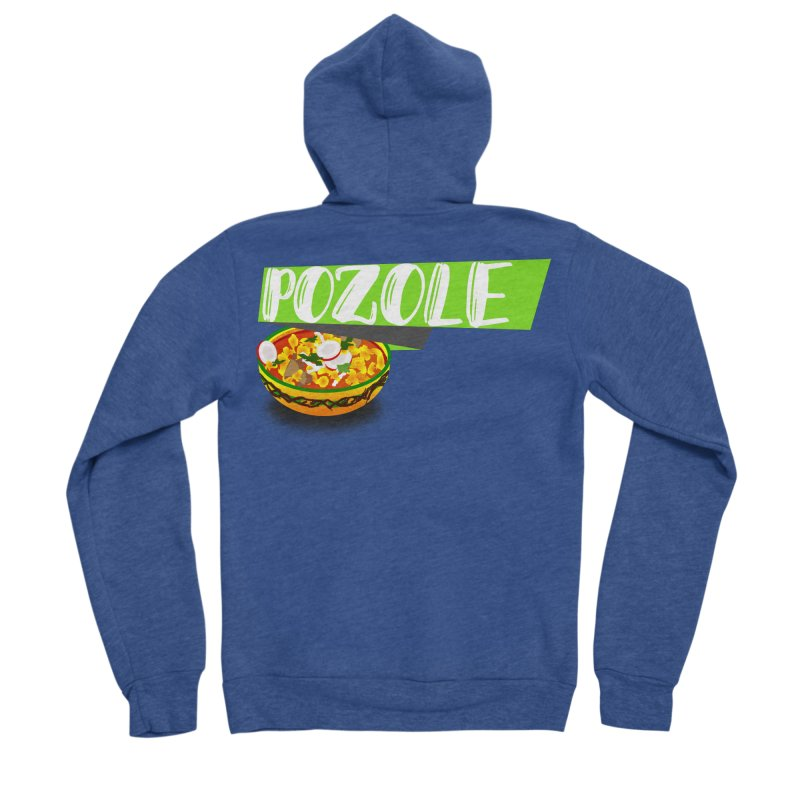 Pozzzole Women's Sponge Fleece Zip-Up Hoody by ZuniReds's Artist Shop