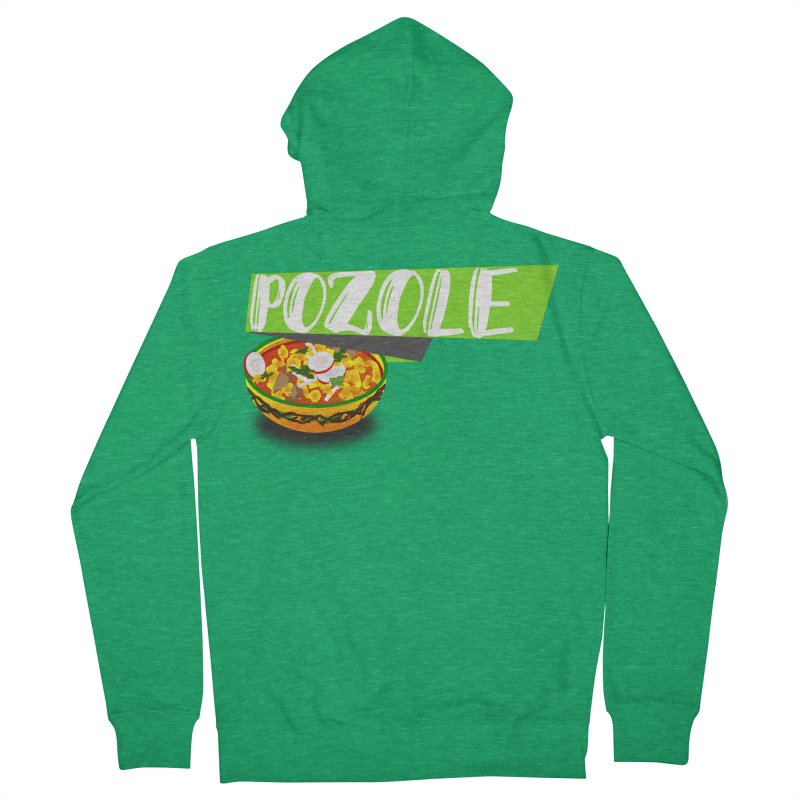 Pozzzole Men's French Terry Zip-Up Hoody by ZuniReds's Artist Shop