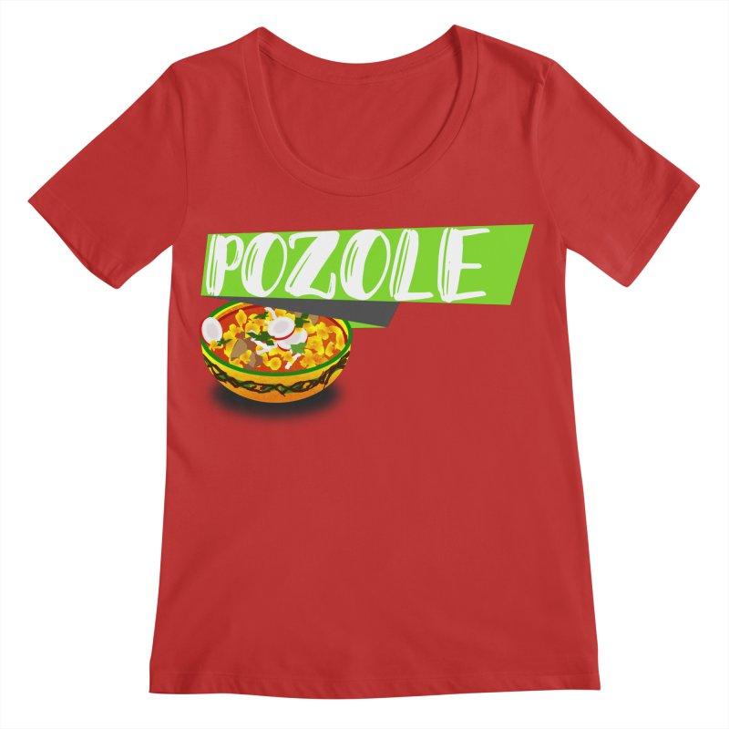 Pozzzole Women's Regular Scoop Neck by ZuniReds's Artist Shop