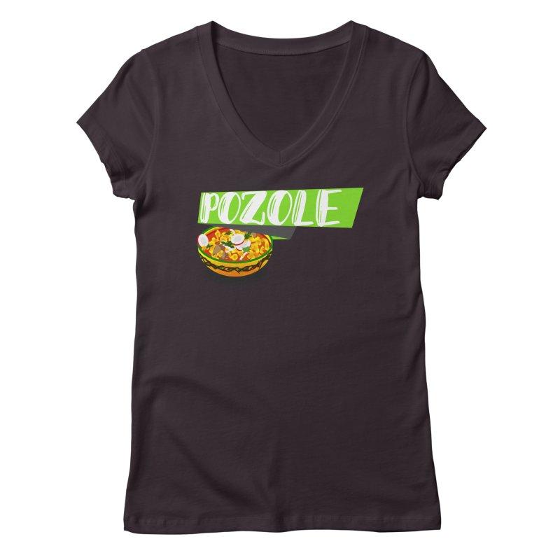 Pozzzole Women's V-Neck by ZuniReds's Artist Shop