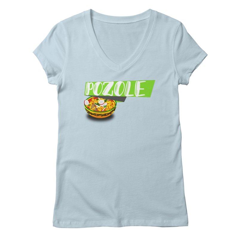 Pozzzole Women's Regular V-Neck by ZuniReds's Artist Shop