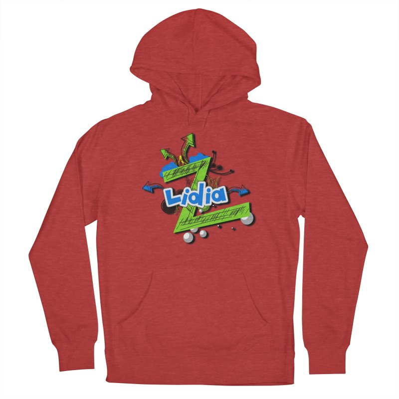 Lidia Men's French Terry Pullover Hoody by ZuniReds's Artist Shop