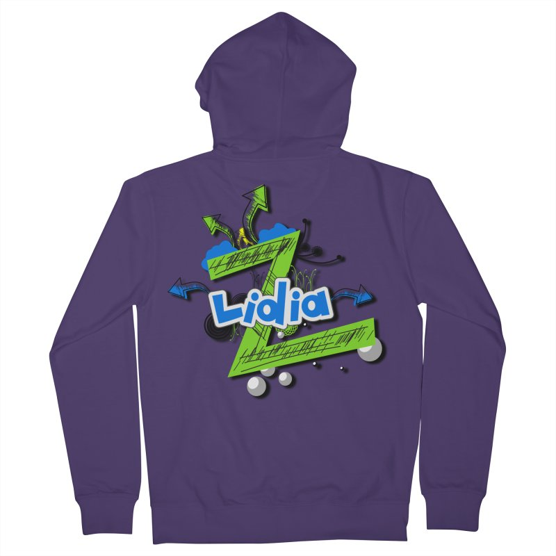 Lidia Women's French Terry Zip-Up Hoody by ZuniReds's Artist Shop