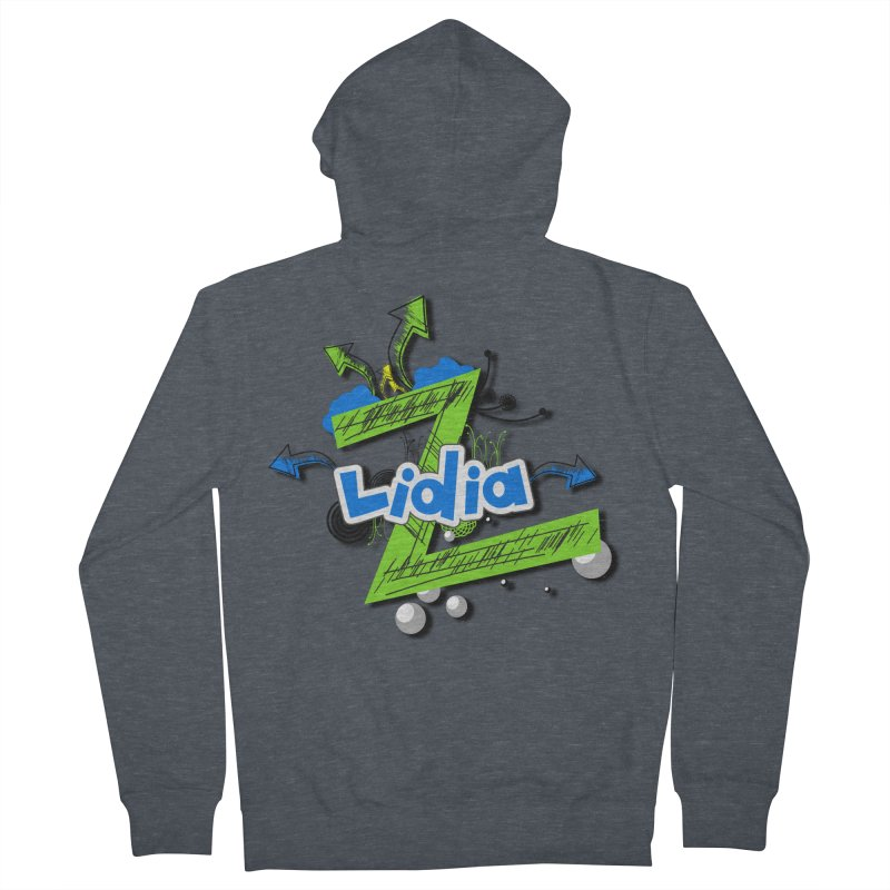 Lidia Men's Zip-Up Hoody by ZuniReds's Artist Shop
