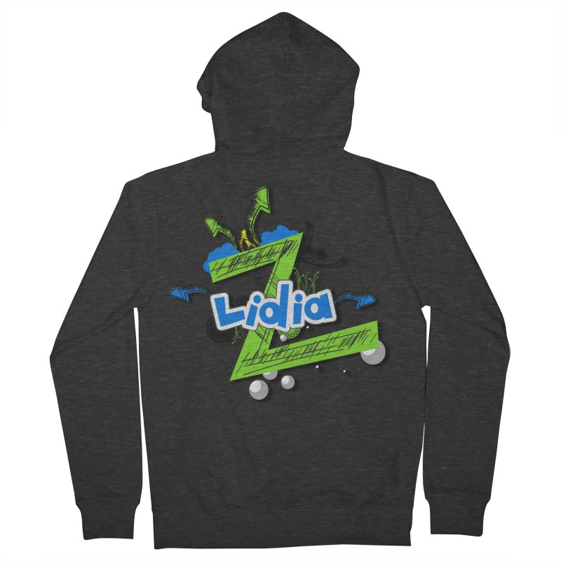 Lidia Men's French Terry Zip-Up Hoody by ZuniReds's Artist Shop