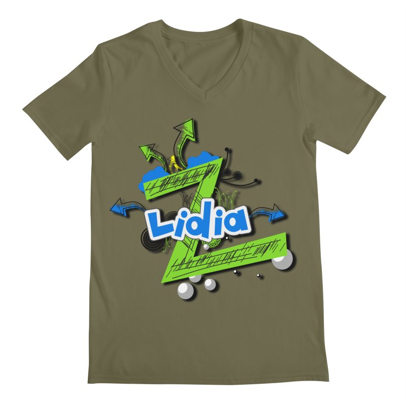Lidia Men's Regular V-Neck by ZuniReds's Artist Shop