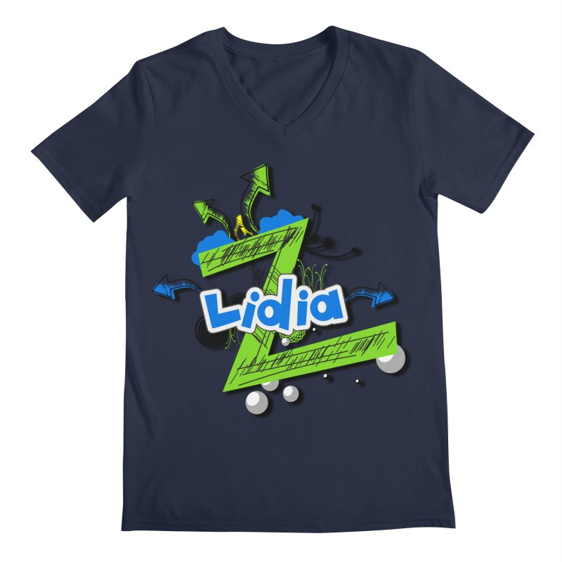 Lidia Men's V-Neck by ZuniReds's Artist Shop