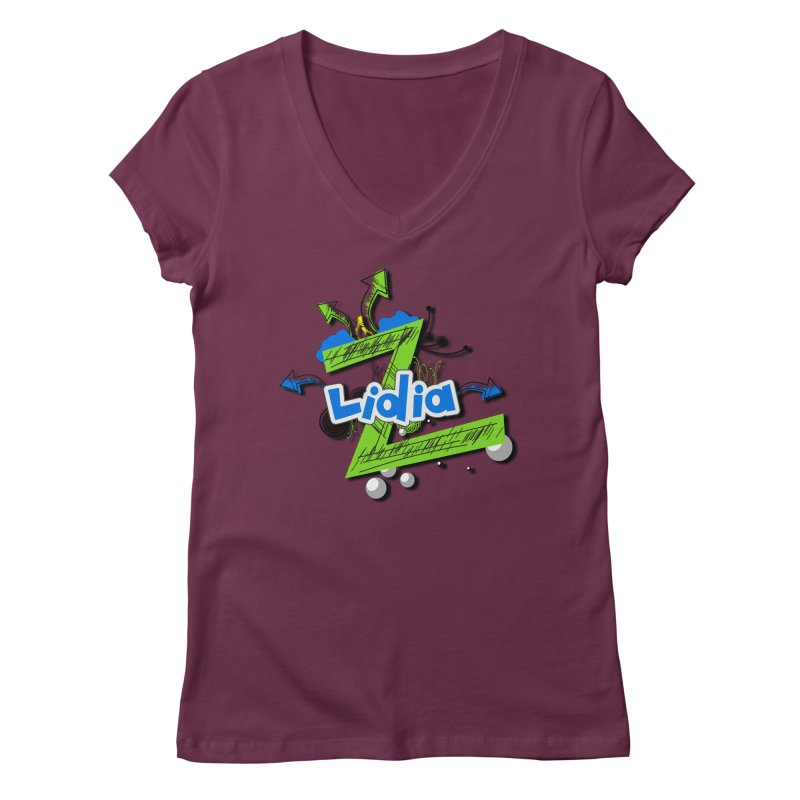 Lidia Women's V-Neck by ZuniReds's Artist Shop