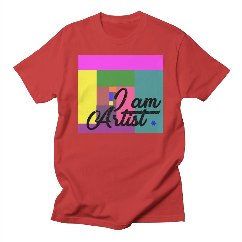 I AM ARTIST Men's T-Shirt by ZuniReds's Artist Shop