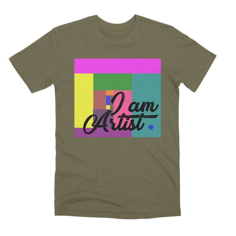 I AM ARTIST Men's T-Shirt by ZuniReds's Artist Shop
