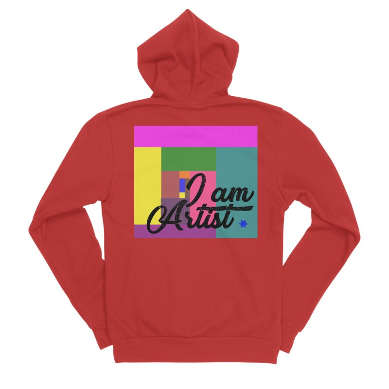 I AM ARTIST Men's Zip-Up Hoody by ZuniReds's Artist Shop