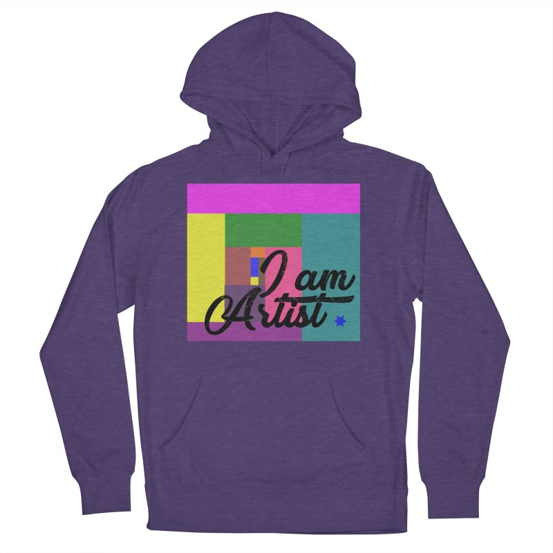 I AM ARTIST Men's French Terry Pullover Hoody by ZuniReds's Artist Shop